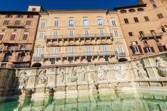 Fonten Gaia - Siena Toscana Italy Royaltyfri Foto