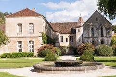 Fontenay修道院 库存照片