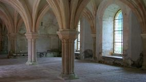 fontenay abbey Royaltyfria Bilder