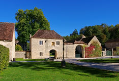 Fontenay Abbey in Burgundy Stock Photography