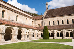 Fontenay Abbey Cloister Royalty Free Stock Photo