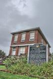 Fontenellebank en het Gerechtsgebouw van de Provincie Stock Fotografie