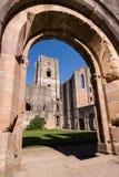 Fontes Abbey Ruins em Inglaterra fotografia de stock royalty free