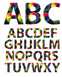 Fontes d'alphabet de couleur Photo stock
