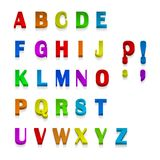 Fontes 3d multicoloridos, disponíveis todas as letras Ilustração do vetor ilustração royalty free