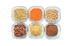 Fontes da planta de proteína Imagens de Stock Royalty Free