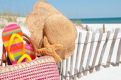 Fontes da praia fotos de stock royalty free