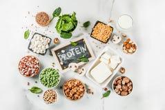 Fontes da proteína do vegetariano fotografia de stock