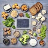 Fontes da proteína do vegetariano fotografia de stock royalty free