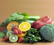Fontes da vitamina C para a dieta saudável da aptidão Fotos de Stock Royalty Free