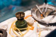Fontes das drogas no passado Foto de Stock Royalty Free