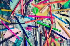 Fontes de escola coloridas imagem de stock