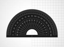 Fontes de escola Ferramenta de medição Prolongador plástico transparente ilustração royalty free