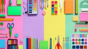 Fontes de escola no quadro Foto de Stock