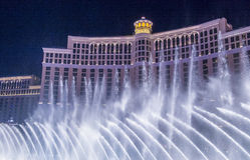 Fontes de Las Vegas, Bellagio Imagens de Stock
