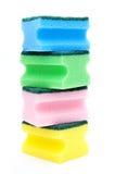 Fontes de limpeza coloridas imagens de stock royalty free