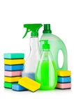 Fontes de limpeza da casa imagens de stock