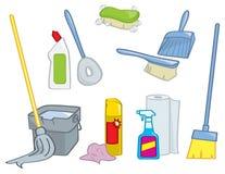 Fontes de limpeza dos desenhos animados Fotografia de Stock Royalty Free