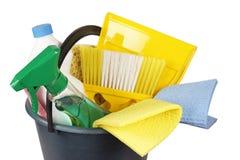 Fontes de limpeza isoladas no branco imagens de stock royalty free