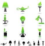 Fontes de luz Imagens de Stock