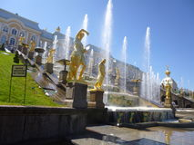 Fontes de Peterhof imagens de stock royalty free