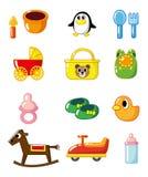 Fontes do bebê dos desenhos animados b Fotografia de Stock Royalty Free