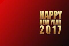 Fontes 2017 do brilho do ouro do ano novo feliz na parte traseira preta vermelha do inclinação Fotografia de Stock Royalty Free