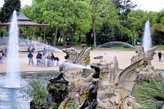Fontes do parque de Ciutadella imagens de stock royalty free