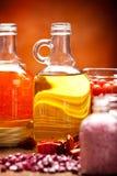 Fontes dos termas - petróleos e sal fotos de stock