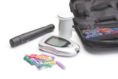 Fontes dos testes do diabético imagens de stock