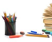 Fontes e livros de escritório imagem de stock