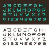 Fontes e números alfabéticos Imagens de Stock