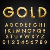 Fontes e números alfabéticos Fotos de Stock Royalty Free