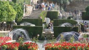 Fontes em jardins do Alcazar, Córdova Foto de Stock