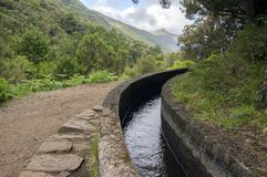 Fontes Levada DAS 25, touristischer Wanderweg, Rabacal, Madeira-Insel Stockfoto
