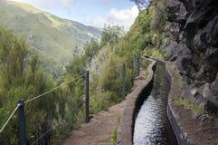 Fontes Levada DAS 25, touristischer Wanderweg, Rabacal, Madeira-Insel Stockfotos