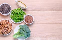 fontes Planta-baseadas dos ácidos Omega-3 imagens de stock