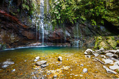 Fontes van watervallevada das 25, Madera Stock Afbeeldingen