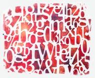 Fontes vermelhas feitos a mão isoladas no fundo branco fotos de stock
