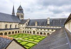 Fontevraud abbotskloster Royaltyfria Bilder