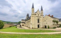 Fontevraud-Abtei Stockfoto