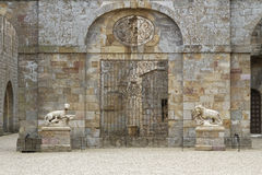 Fontfroide Abbey entrance Royalty Free Stock Images