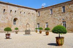 Fontfroide abbey in south of  France Stock Image