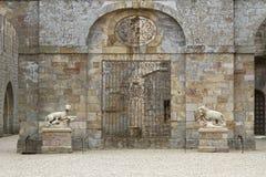 Fontfroide-Abteieingang Lizenzfreie Stockbilder
