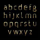 Fonti alfabetiche dell'oro Immagini Stock Libere da Diritti
