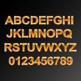 Fonti alfabetiche e numeri royalty illustrazione gratis