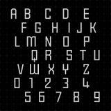 Fonti alfabetiche e numeri Fotografia Stock Libera da Diritti