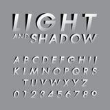 Fonti alfabetiche e numeri Immagine Stock Libera da Diritti