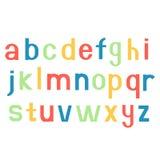 Fonti di alfabeto Lettere variopinte stampate Fotografia Stock Libera da Diritti