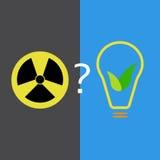 Fonti di energia atomiche ed ecologiche Immagini Stock Libere da Diritti